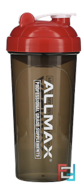 Leak-Proof Shaker, BPA-FREE Bottle with Vortex Mixer, ALLMAX Nutrition, 25 oz, 700 ml