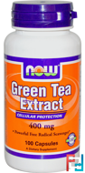 Green Tea Extract, Now Foods, 400 mg, 100 Capsules