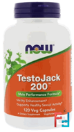 TestoJack 200, Now Foods,  120 Veggie Caps