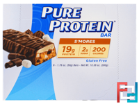 S'mores Bar, Pure Protein, 6 Bars, 1.76 oz (50 g) Each