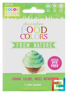 Decorative, Food Colors From Nature, Green, ColorKitchen, 1 Color Packet, 0.088 oz (2.5 g)