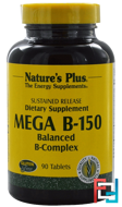 Mega B-150, Balanced B-Complex, Nature's Plus, 90 Tablets