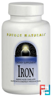 Iron, 25 mg, Source Naturals, 250 Tablets