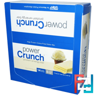 Protein Energy Bar, French Vanilla Creme, BNRG, Power Crunch 12 Bars, 1.4 oz (40 g) Each