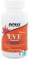 Eve Capsules, Superior Women's Multi, Iron-Free, Now Foods, 120 Veg Capsules