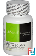 Micronized DHEA, 10 mg, DaVinci Laboratories of Vermont, 90 Capsules
