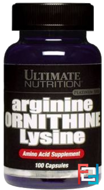 Arginine/Ornithine/Lysine, Ultimate Nutrition, 100 capsules