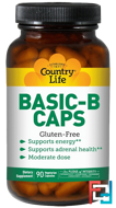 Basic-B Caps, Country Life, 90 Veggie Caps