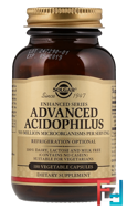 Advanced Acidophilus, Solgar, 100 Vegetable Capsules