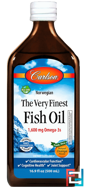 Norwegian, The Very Finest Fish Oil, Natural Orange Flavor, Carlson Labs, 16.9 fl oz (500 ml)
