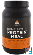 Bone Broth Protein Meal, Chocolate Creme, Dr. Axe / Ancient Nutrition, 28.6 oz (811 g)