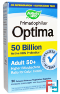 Primadophilus, Optima, Adult 50+, Nature's Way, 30 Veggie Caps