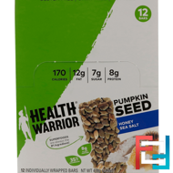 Pumpkin Seed, Honey Sea Salt, Health Warrior, Inc., 12 Bars, 14.8 oz (420 g)