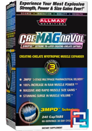 CreMAGnaVol, 3MPD Extreme Tri-Layer Creatine-Chelate, ALLMAX Nutrition, 240 сapTabs