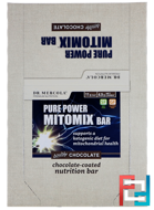 Pure Power Mitomix Bar, Double Chocolate, Dr. Mercola, 12 Bars, 1.41 oz (40 g) Each