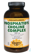 Phosphatidyl Choline Complex, Country Life, 1200 mg, 200 Softgels