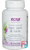 Solutions, Hair, Skin & Nails, Now Foods, 90 Capsules