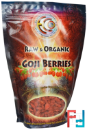 Goji Berries, Raw & Organic, Earth Circle Organics, 16 oz, 454 g