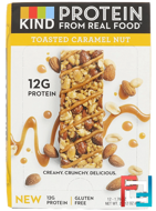 Protein Bars, Toasted Caramel Nut, KIND Bars, 12 Bars, 1.76 oz (50 g) Each
