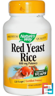 Red Yeast Rice, Nature's Way, 600 mg, 120 Veggie Caps