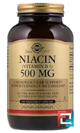 Niacin (Vitamin B3), 500 mg, Solgar, 250 Vegetable Capsules