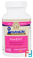 ProvENT with Blis K12, 20 mg, NutraLife, 30 Easy Chew Tablets