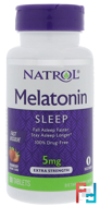 Melatonin, Fast Dissolve, Strawberry, Natrol, 5 mg, 90 Tablets