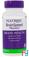 BrainSpeed Memory, Natrol, 60 Tablets