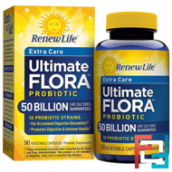 Extra Care, Ultimate Flora Probiotic, Renew Life, 50 Billion, 90 Vegetable Capsules