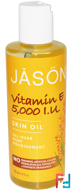 Vitamin E 5,000 I.U., Skin Oil, Jason Natural, 4 fl oz (118 ml)