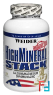 High Mineral Stack, Weider, 120 capsules