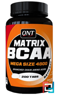 BCAA 2:1:1 Matrix, QNT, 200 tablets