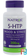 5-HTP TR, Time Release, Natrol, 200 mg, 30 Tablets