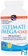 Ultimate Omega + CoQ10, Nordic Naturals, 1000 mg, 120 Soft Gels