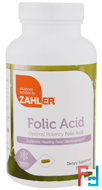Folic Acid, Optimal Potency Folic Acid, Zahler, 250 Capsules