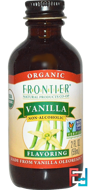 Vanilla Flavoring, Non-Alcoholic, Frontier Natural Products, Organic, 2 fl oz, 59 ml