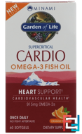CardiO-3, Once Daily Support Formula, Orange Flavor, Minami Nutrition, 60 Softgels