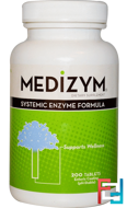 Medizym, Systemic Enzyme Formula, Naturally Vitamins, 200 Tablets