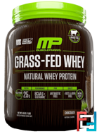 Grass-Fed Whey, Natural Whey Protein Drink Mix, Chocolate, MusclePharm Natural, 1 lbs (455 g)