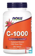 C-1000, Now Foods, 250 Tablets