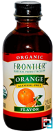 Organic Orange Flavor, Alcohol-Free, Frontier Natural Products, 2 fl oz, 59 ml