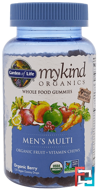 Mykind Organics, Men's Multi, Organic Berry, Garden of Life, 120 Gummy Drops