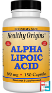 Alpha Lipoic Acid, Healthy Origins, 300 mg, 150 Capsules