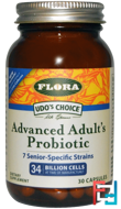 Udo's Choice, Advanced Adult's Probiotic, Flora, 30 Capsules
