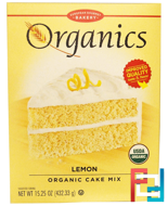 Cake Mix, Lemon, European Gourmet Bakery, Organics, 15.25 oz (432.33 g)