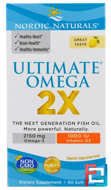 Ultimate Omega 2X, Lemon, Nordic Naturals, 60 Soft Gels