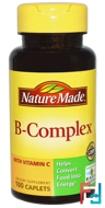 B-Complex with Vitamin C, Nature Made, 100 Caplets