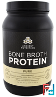 Bone Broth Protein, Pure, Dr. Axe / Ancient Nutrition, 31.4 oz (890 g)