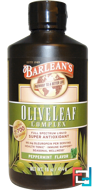 Olive Leaf Complex, Peppermint Flavor, Barlean's, 16 oz, 454 g