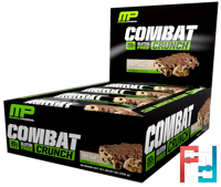 Combat Crunch, Chocolate Chip Cookie Dough, MusclePharm, 12 Bars,  63 g Each